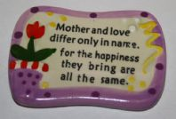 Purple Ceramic Mother Verse Fridge Magnet